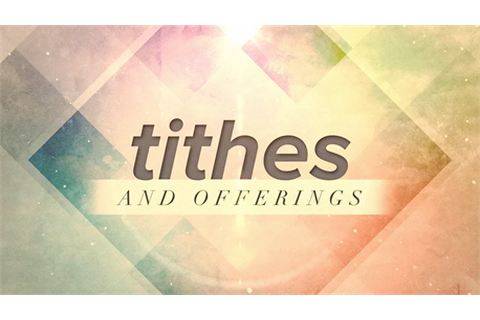Tithe & Offering